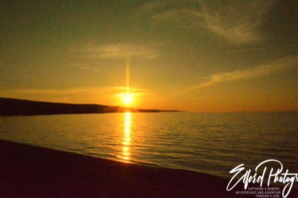 Sunrise on the shores of Lake Superior