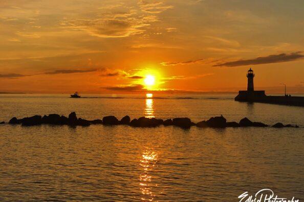 August 1st Sunrise on Lake Superior