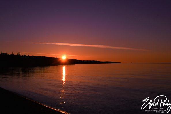Lake Superior Sunrise in Grand Marais, MN